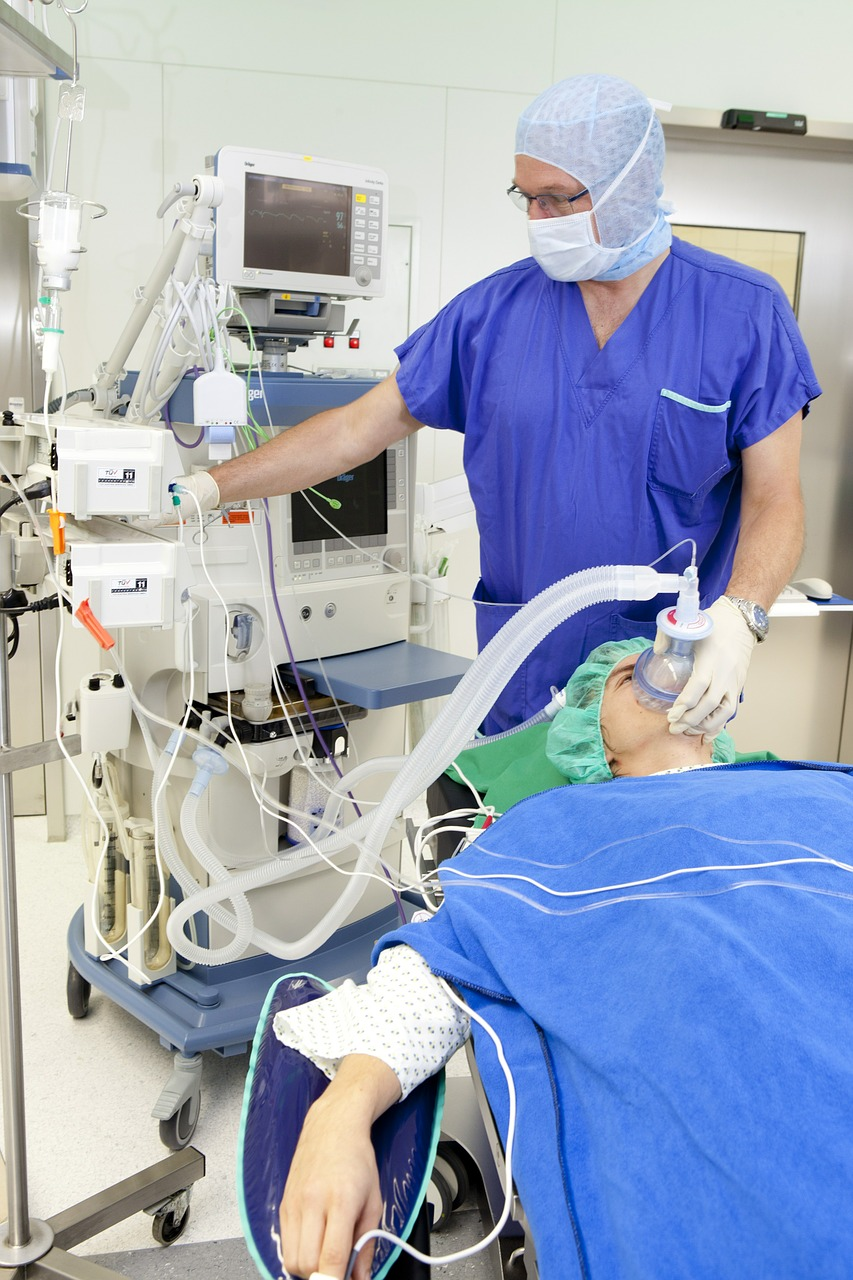 operation, respiratory mask, anesthesia